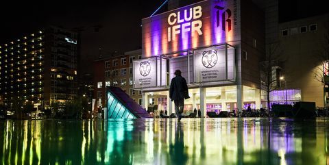 Night, Reflection, Light, Water, Metropolitan area, Purple, Lighting, Neon, Architecture, Urban area,