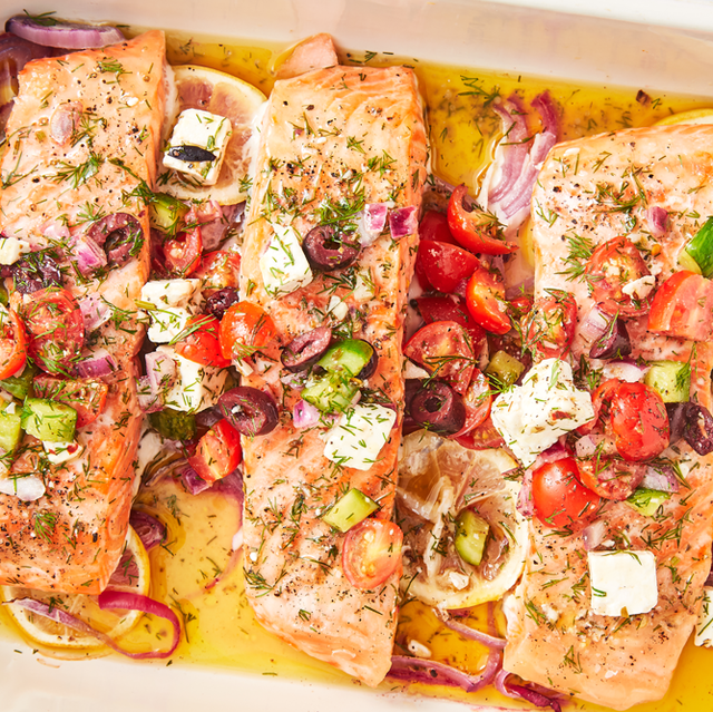 Greek Salmon - Delish.com