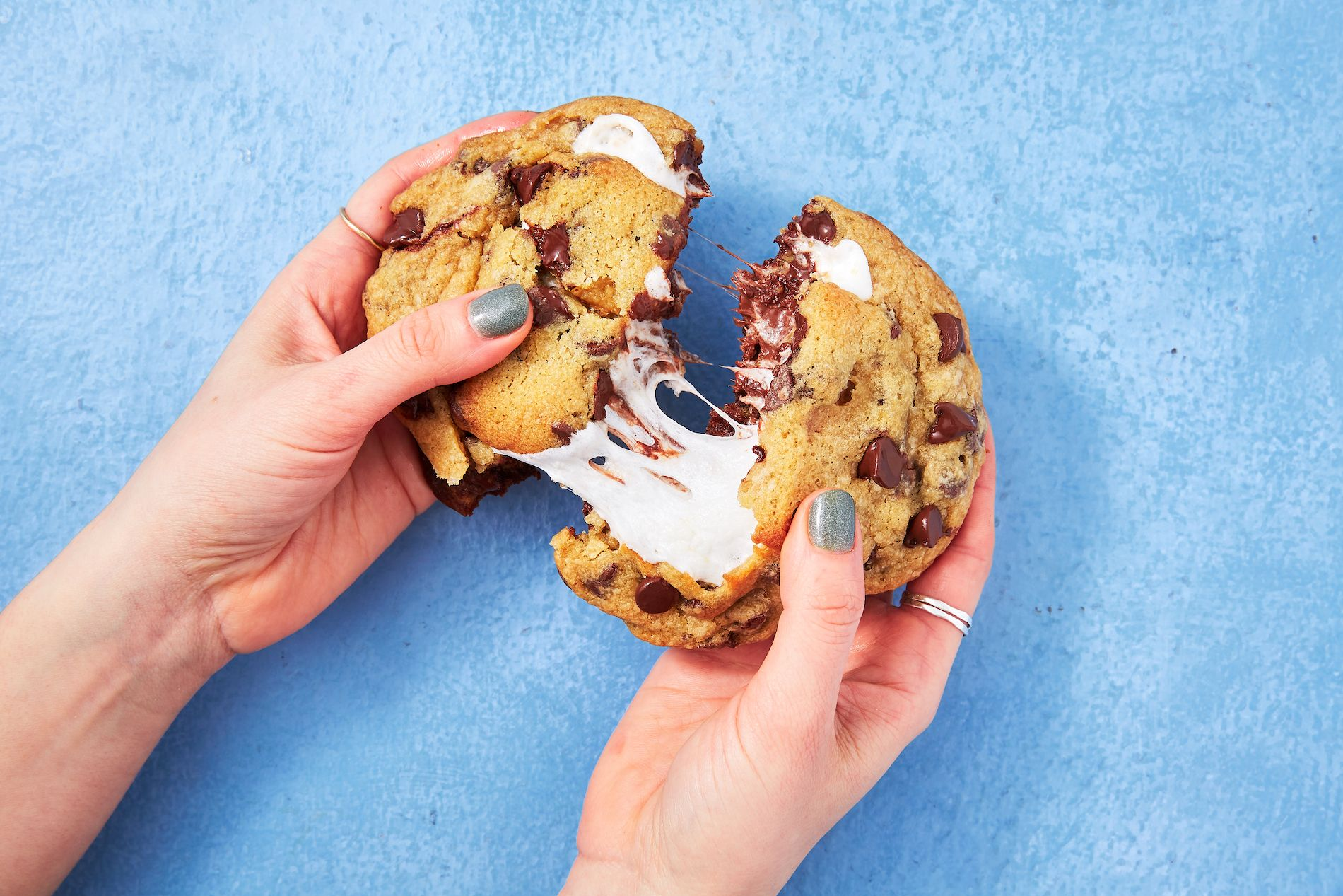 Best S Mores Stuffed Cookies Recipe How To Make S Mores Stuffed