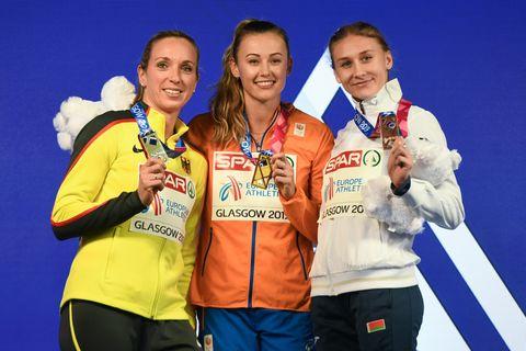 EK, atletiek, indoor, Glasgow, 2019, finale, medaille, vrouwen, Europese kampioenschappen, EK atletiek, hardlopen, runnersworld, Runner's World, runnersweb, goud, Nadine Visser