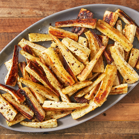 Simple roasted parsnips