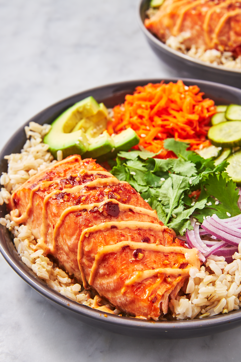 Spicy Salmon Bowls - Delish.com