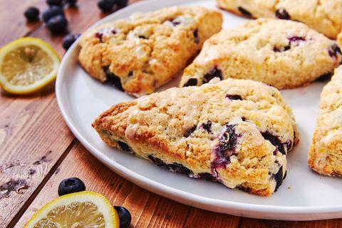 Lemon Blueberry Buttermilk Scones - Delish.com