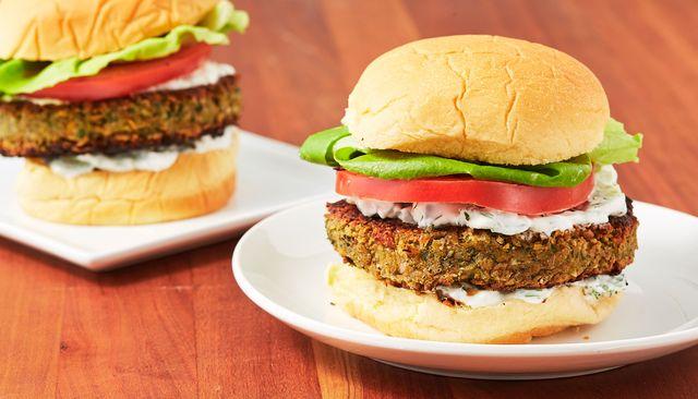 Falafel Burgers - Delish.com