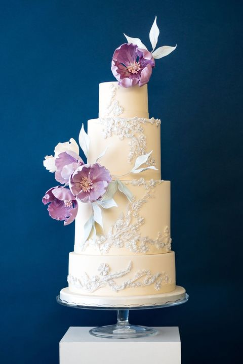 Wedding cake, Sugar paste, Cake decorating, Cake, Pink, Fondant, Icing, Sugar cake, Buttercream, Wedding ceremony supply,