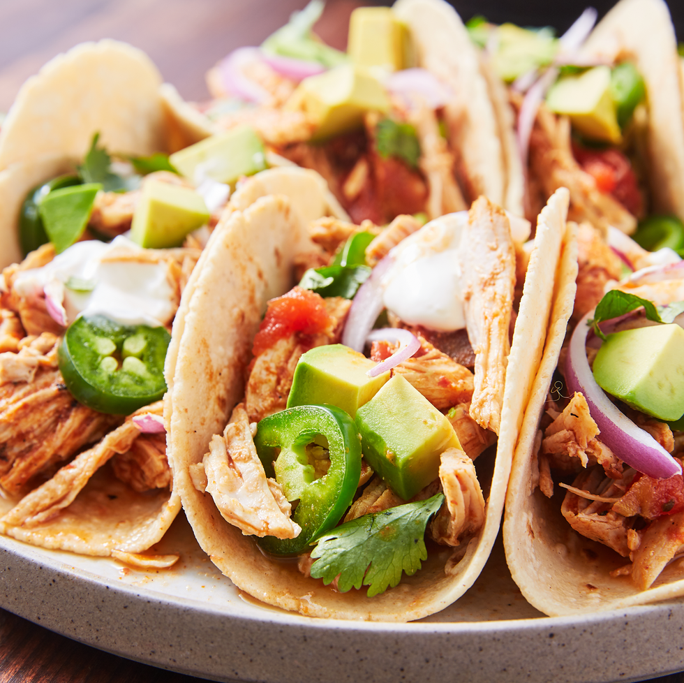 Instant Pot Spicy Chicken Tacos