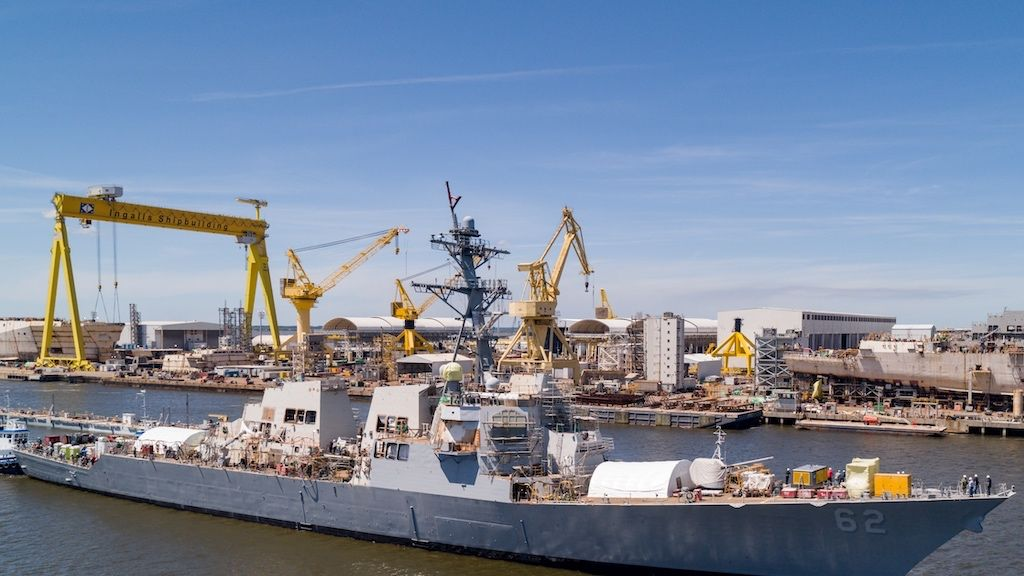 Stricken Destroyer USS Fitzgerald Leaves Drydock