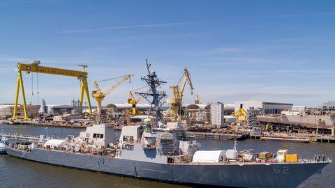 Vehicle, Ship, Watercraft, Boat, Crane, Port, Crane vessel (floating), Destroyer, Dock landing ship, Harbor,