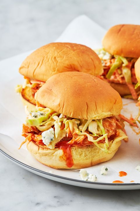 Instant Pot Buffalo Chicken Sliders - Delish.com