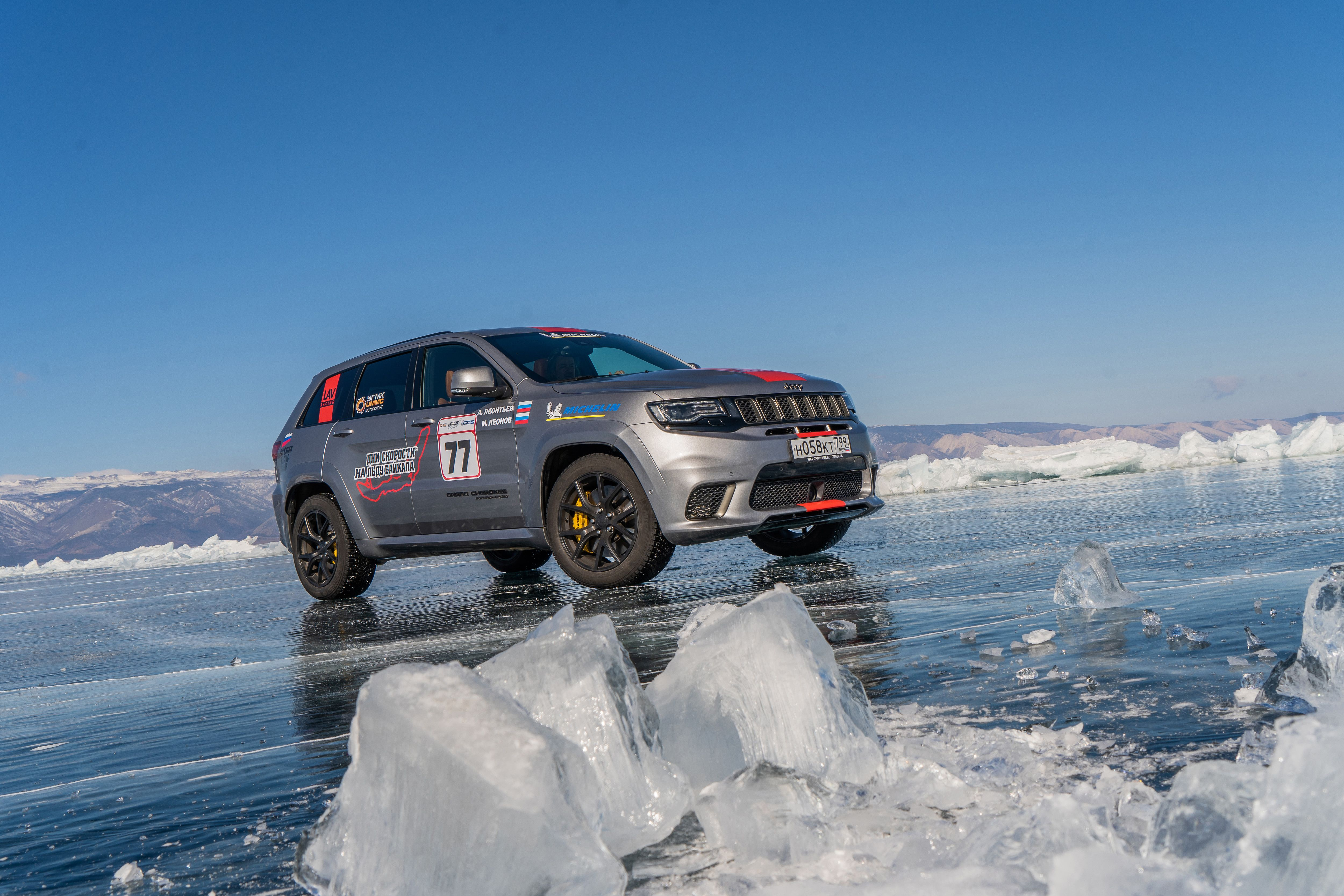 The Jeep Grand Cherokee Trackhawk Is Now the Fastest SUV on Ice