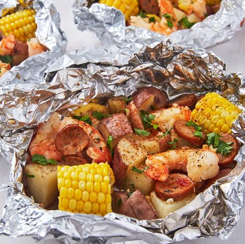 Grilled Shrimp Foil Packs - Delish.com