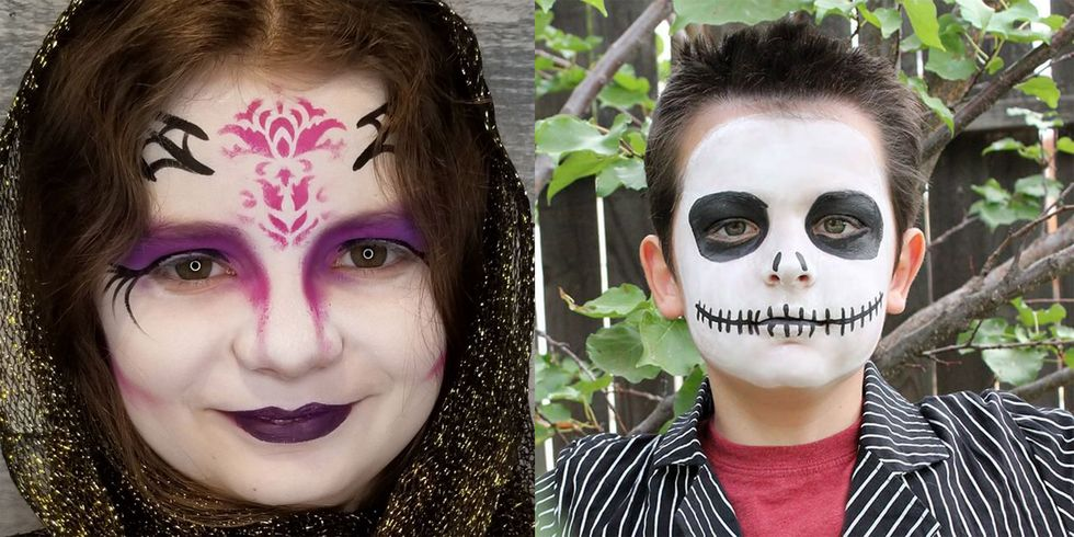 30 Best Easy Halloween Face Paint Ideas That Even Unartistic Parents Can Attempt