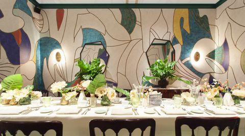 Natalia Miyar private dining room at Masterpiece London