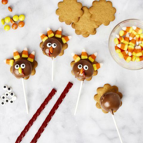 thanksgiving cake pops   turkey cake pops