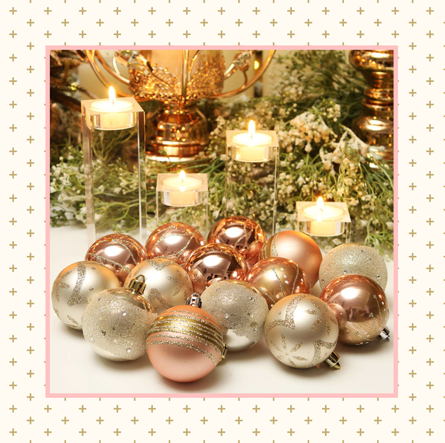 Disney Christmas Tree Topper Uk.21 Pretty Rose Gold Christmas Decorations Best Rose Gold