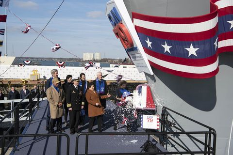 John F. Kennedy (CVN 79) christening ceremony