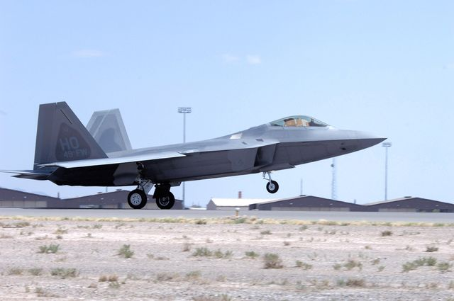 an f 22 raptor flown by col jeff harrigian arrives june 2 at holloman air force base, nm, june 2 holloman afb is one of four bases the f 22s will be assigned at prior to landing, the jets flew over the tularosa basin, giving community members a chance to see the new aircraft us air force photosenior airman anthony nelson