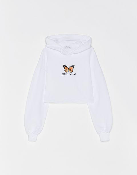 White, Clothing, Product, Hood, Sweatshirt, Outerwear, Hoodie, Sleeve, sweatpant, T-shirt,