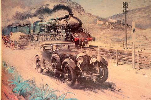 Motor vehicle, Vehicle, Vintage car, Mode of transport, Car, Illustration, Classic, Classic car, Antique car, Art,