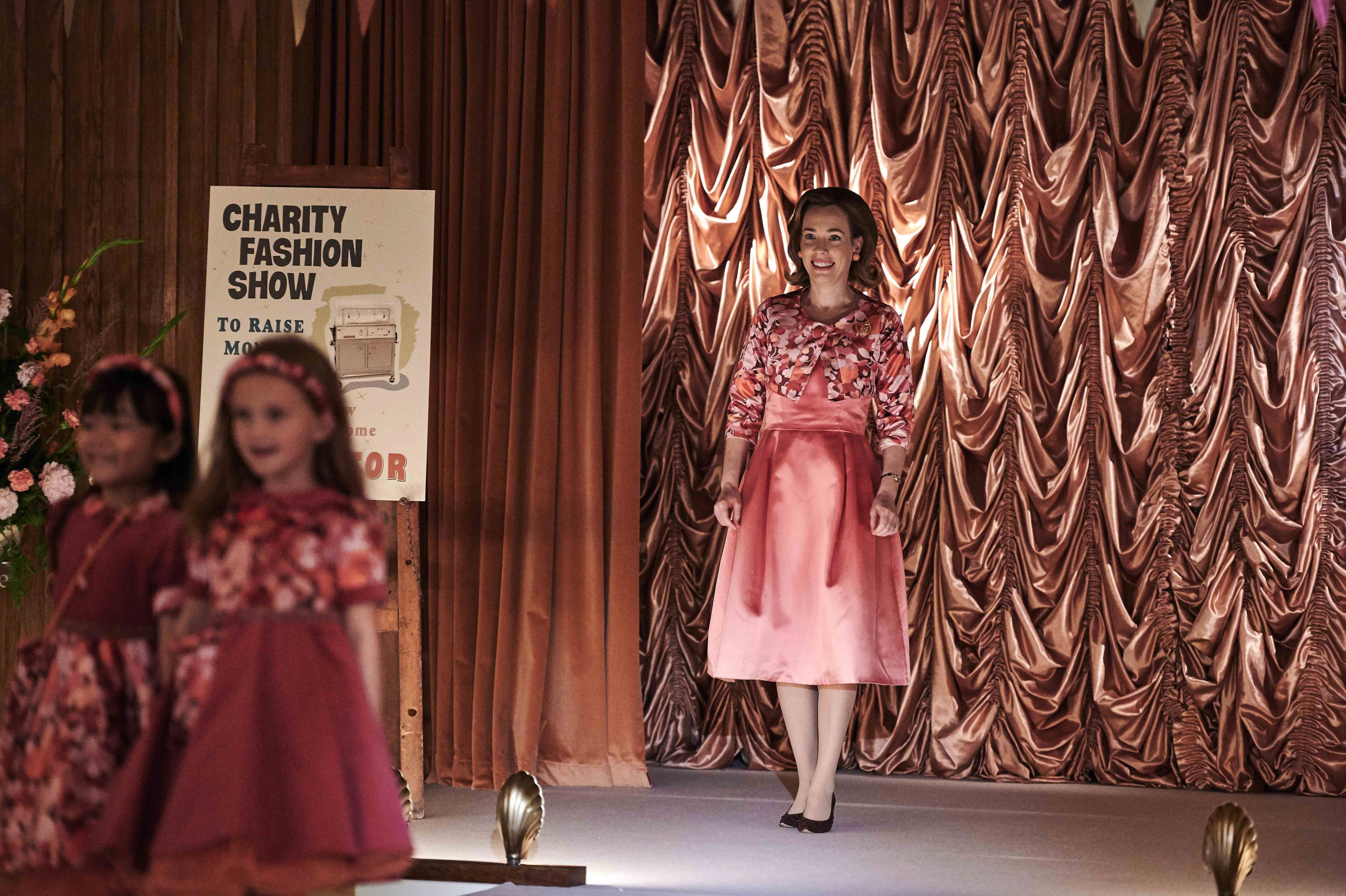 Shelagh, Trixie and Valerie strut their stuff on charity catwalk in Call The Midwife preview