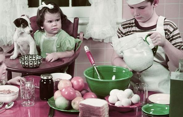 1940s 1950s BOY TWO GIRLS...