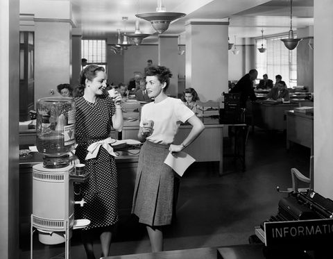 1940s two women office