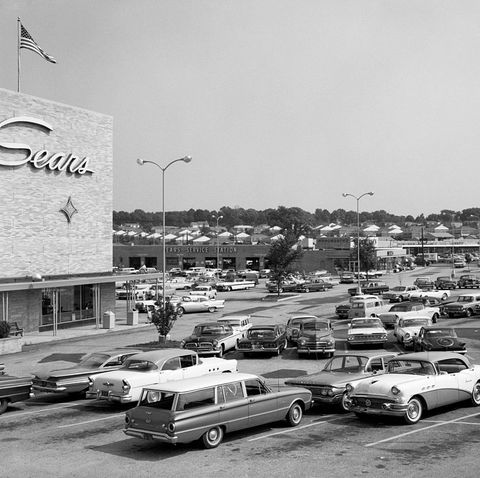 1950s 1960s shopping mall
