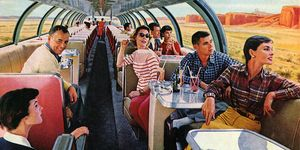 1950s Tourists On Luxury Train