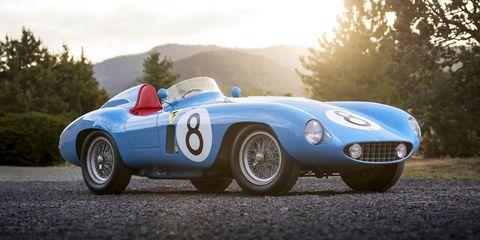 Land vehicle, Vehicle, Car, Sports car, Classic car, Race car, Coupé, Ferrari monza, Jaguar d-type, Sedan,
