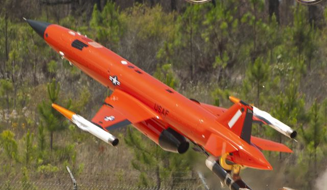a bqm 167 launches over the gulf of mexico may 12 at tyndall air force base, fla this subscale target is used for live weapon system evaluations and testing the 82nd aerial targets squadron operates qf 4, qf 16 and bqm 167 targets to provide manned and unmanned aerial targets support for programs across the department of defense us air force photosara vidoni