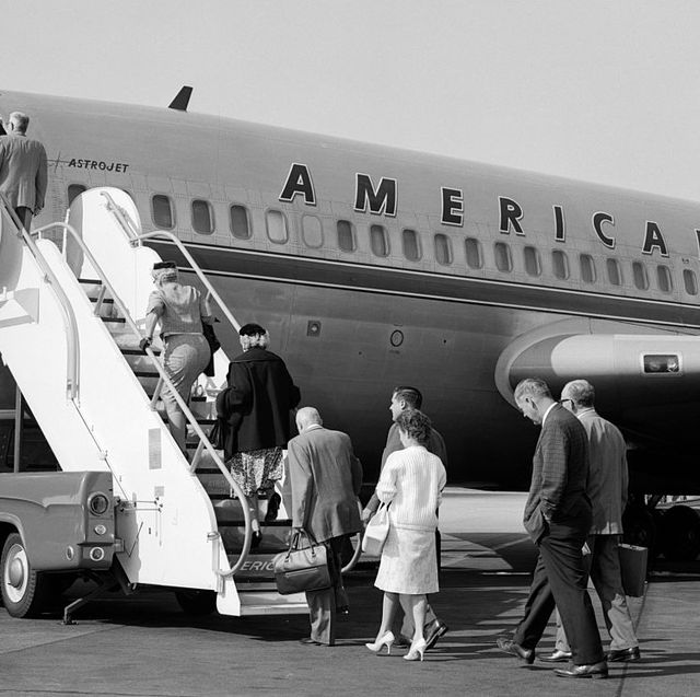 1960s passengers boarding
