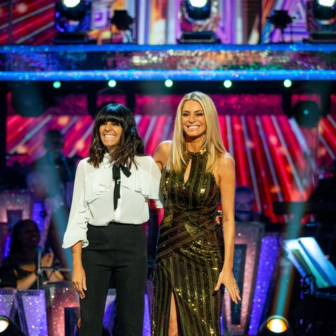 Claudia Winkleman looks amazing in Zara blouse for Strictly final