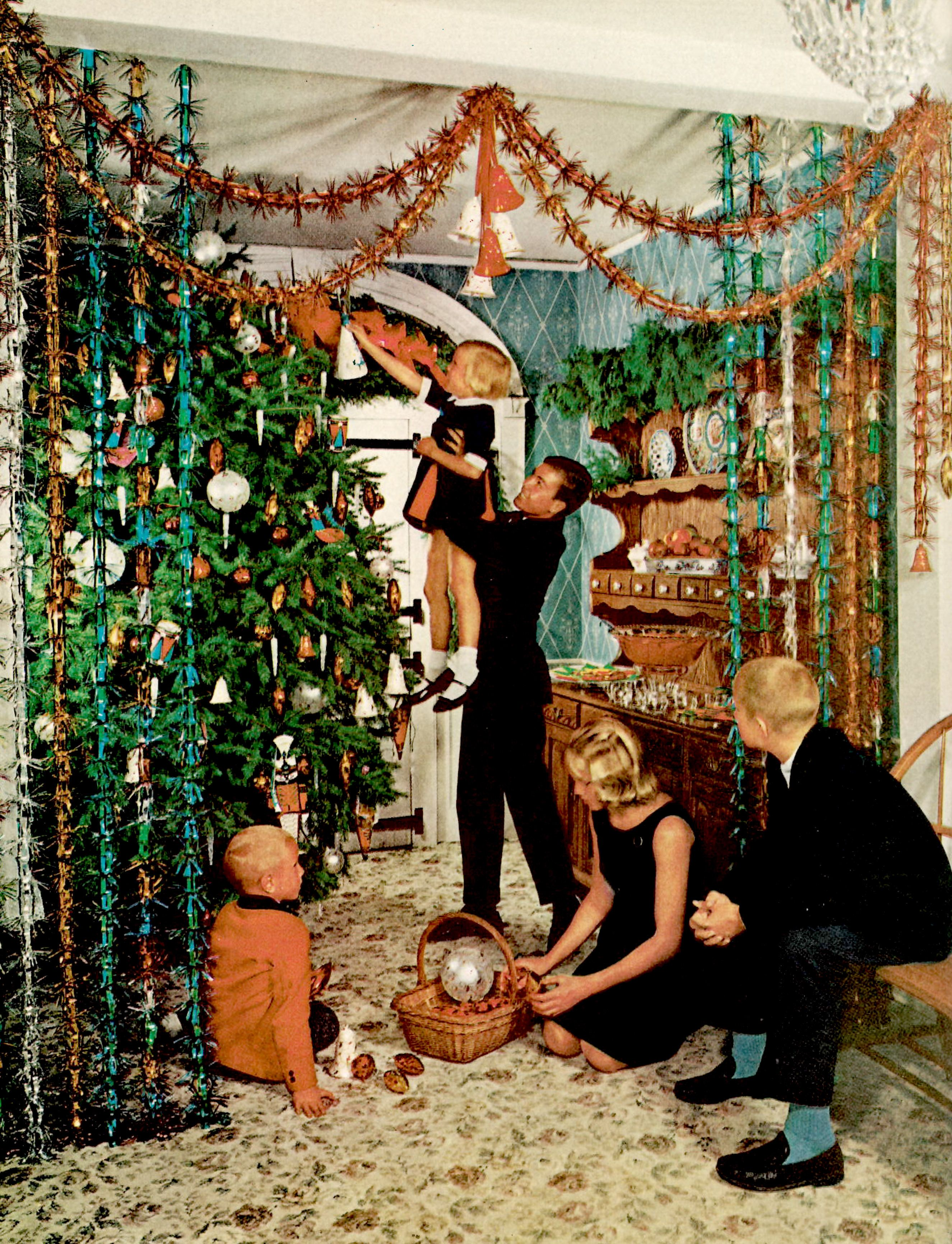 House Beautiful Christmas Decor Through the Years , Vintage
