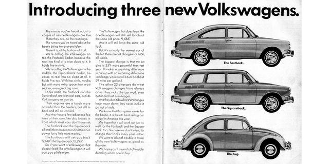1966 volkswagen type 3 magazine advertisement