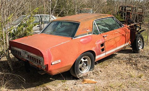 1967 Mustang Shelby Gt500 Prototype Found Lost Little Red Shelby