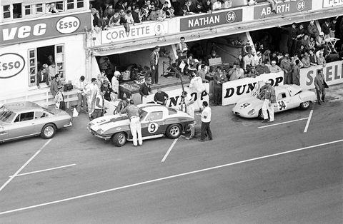 Pit Lane At Le Mans