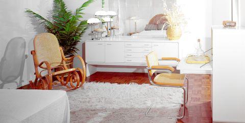 1970s BEDROOM WHITE...