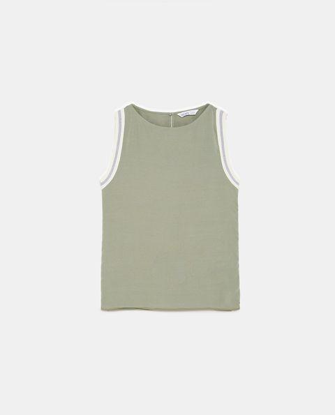 Clothing, White, Green, Sleeveless shirt, Outerwear, Khaki, T-shirt, Beige, Sleeve, Vest,