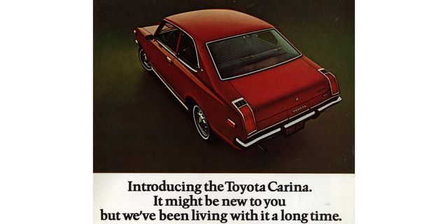 1972 toyota carina magazine advertisement