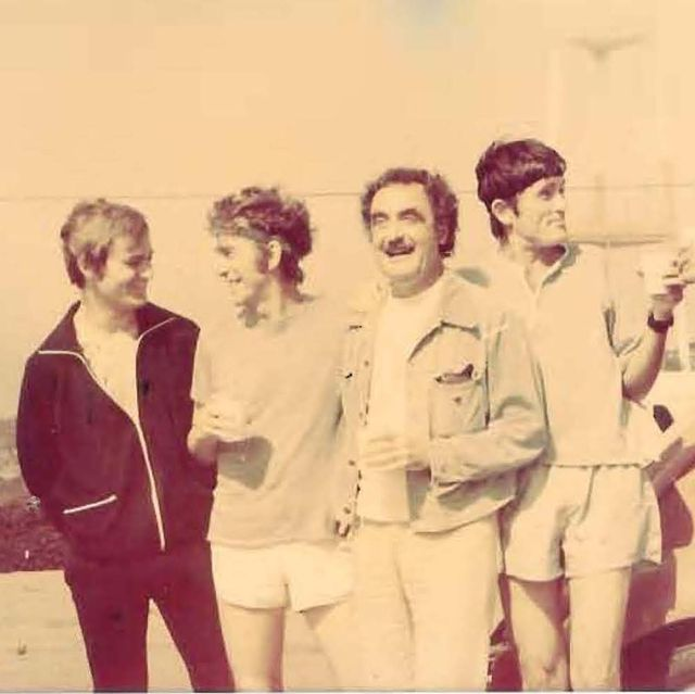 the original front runners circa 1973 meeting together after a run in san francisco