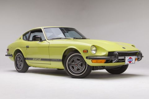 Lime-Yellow 1973 Datsun 240Z up for Auction Is the ...