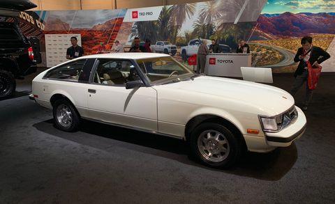 Land vehicle, Vehicle, Car, Coupé, Sedan, Classic car, Toyota, Liftback, Sports car,