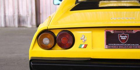 Land vehicle, Vehicle, Car, Ferrari 328, Yellow, Coupé, Sports car, Ferrari 308 gtb/gts, Automotive design, Mode of transport,