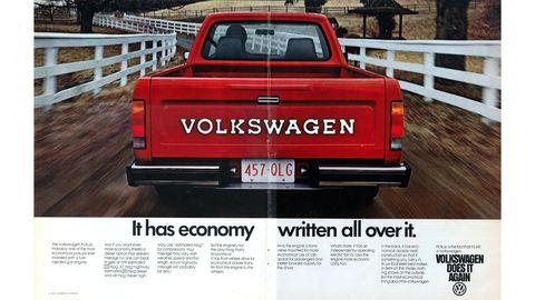 1980 VW Caddy magazine ad