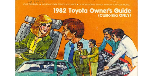 1982 california toyota owner's guide cover