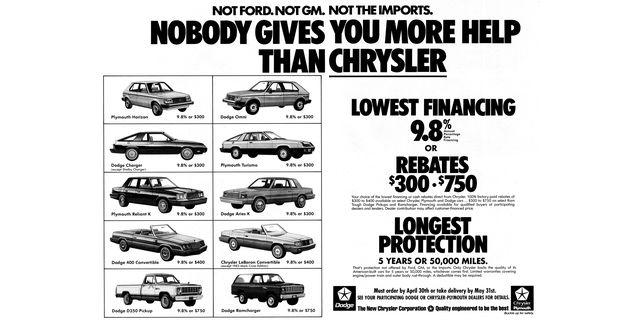 1983 chrysler magazine advertisement