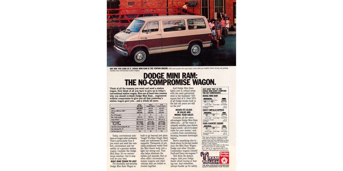 1983 Dodge Ram Van Actually An Economical Station Wagon