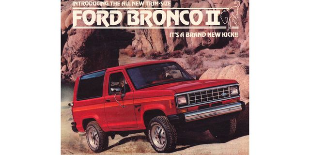 1984 ford bronco ii magazine advertisement