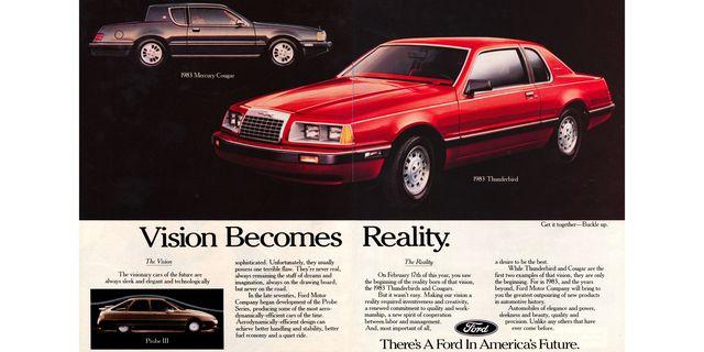1983 ford thunderbird and mercury cougar magazine advertisement