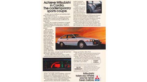 1983 Mitsubishi Cordia magazine advertisement